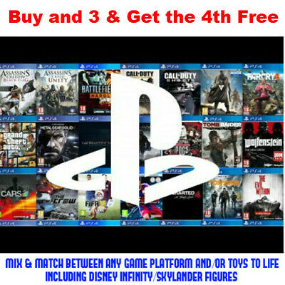 Various Games For (Playstation 4, PS4) Buy 2 From any Platform & 3rd 50% Off