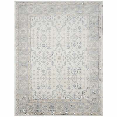 Safavieh Hand-knotted Maharaja Helen Traditional Oriental Ivory/Blue 8' x 10'