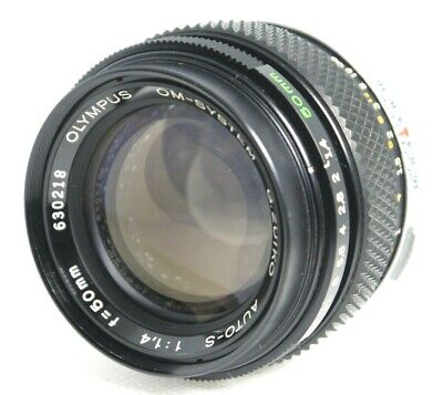 【AS IS】 Olympus OM-System G.Zuiko Auto-S 1:1.4 50mm Lens From Japan