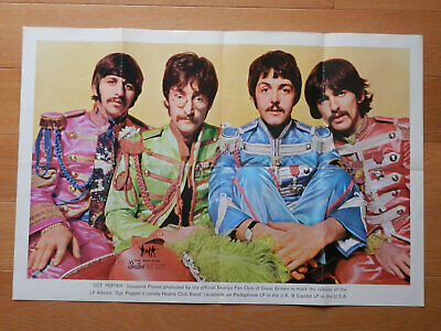 Beatles original UK 1967 Fan Club Poster 'Sgt Pepper'