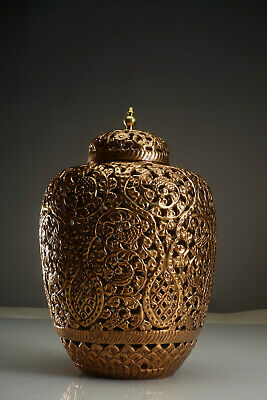 Large Antique Persian Islamic Ottoman Arabic Brass Incense Burner 34cm 13""
