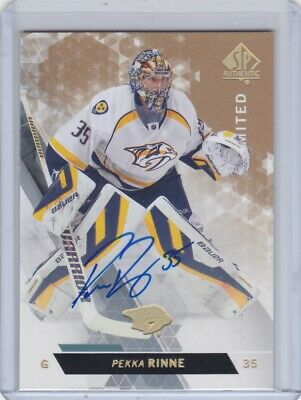 Pekka Rinne 2013-14 Upper Deck Sp Authentic Limited Auto Autograph #130