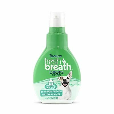 Fresh Breath! 3 Drops In Water Bowl! Free Post~Tropiclean~For Dogs & Cats!