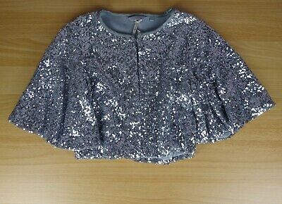 NEXT silver sequin sleeved cape bolero age 8 years party wedding