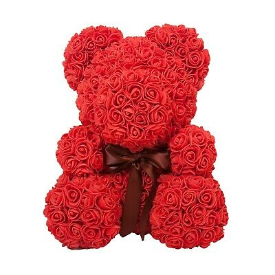 The Rose Bear Red Christmas Forever Roses Artificial Flowers Valentines Day