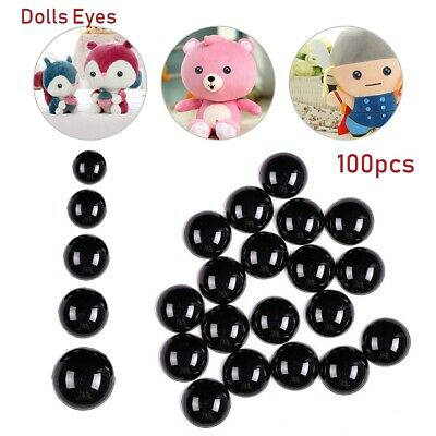 Bears Needle Felting Animals Puppets making Dolls Accessories Black Safety Eyes