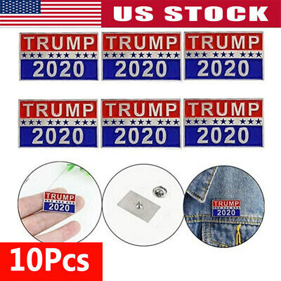 10x Donald Trump 2020 Election President Badge Button Pin Campaign Brooch TO