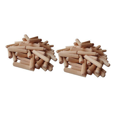Pack of 200 Unfinished Natural Wood Craft Dowel Rods, DIY Woodworking Crafts