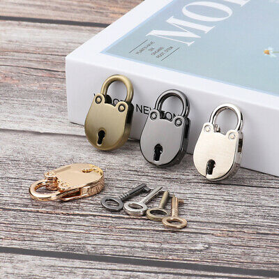 Cute Mini Padlock with Key Metal Security Lock for Suitcase Luggage