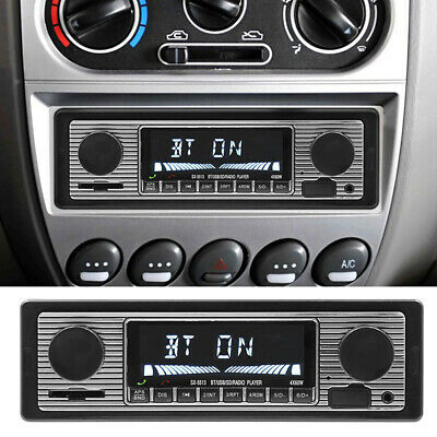 12V Bluetooth Vintage Cars FM Radio MP3 Player USB AUX LCD Audio Receiver