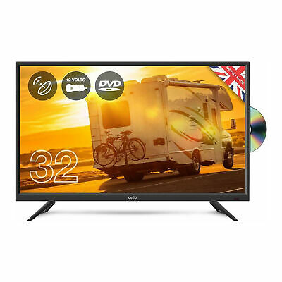 """Cello 32"""" Inch Full HD 12V Traveller LED TV with DVD Player and Satellite"""