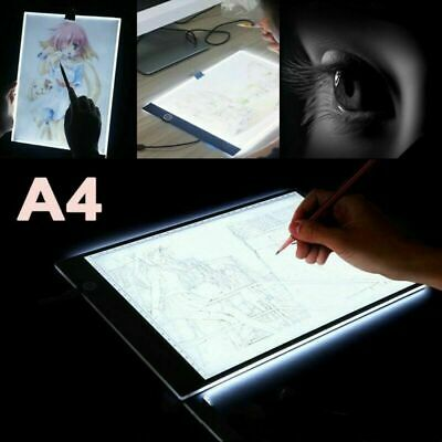 A4 LED Ultra Slim Art Craft Drawing Copy Tracing Light Box Pad Board Kids Girl