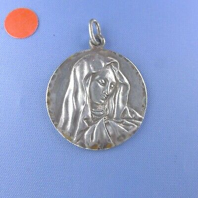 Sterling silver Virgin Mary medal • Madonna