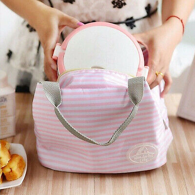 Portable Picnic Food Container Warm Heat Insulated Lunch Box Storage Tote Bag