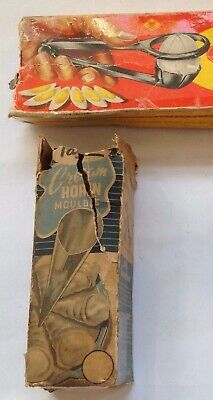 Vintage Columbus egg slicer, Tala cream cone moulds in boxes, Reckitts bag blue