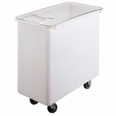 Cambro IB36148 White Flat Top 34 Gal Ingredient Bin with Clear Lid