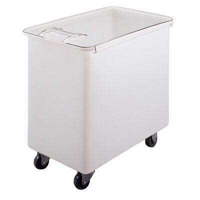 Cambro IB44148 White Flat Top 44 Gal Ingredient Bin with Clear Lid