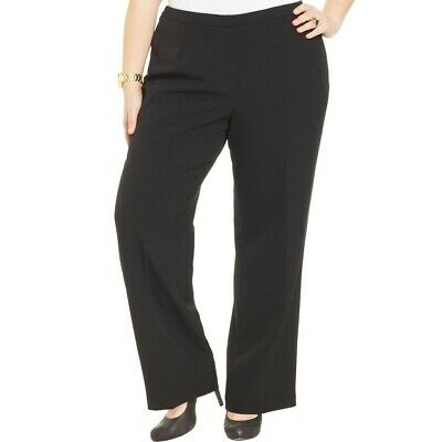 KASPER NEW Women's Kate Plus Classic Fit Straight Leg Dress Pants TEDO