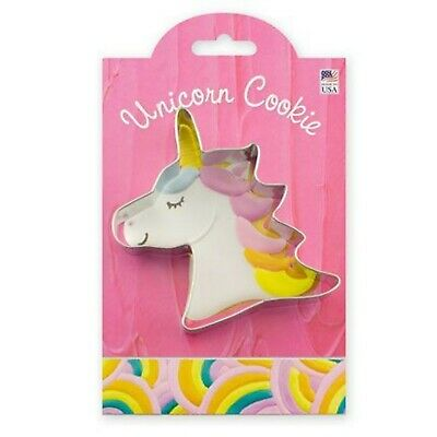 Ann Clark  UNICORN Tin Plated Steel Cookie Cutter With Recipe  USA