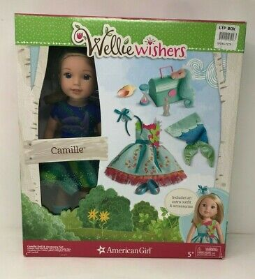 American Girl WellieWishers Camille Doll Set Sea Dreams NIB 7 Pieces