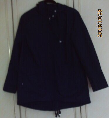"""""""REDUCED""""LADIES/GIRLS JACKET WITH HOOD from M&S - SIZE 10 - NAVY - USED"""