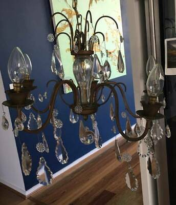 Antique 20 Arm Brass Chandelier with electric fitting
