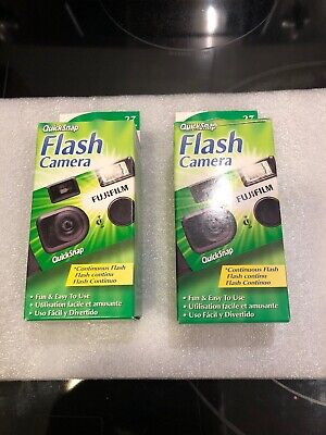 2 Fujifilm Quicksnap Flash Cameras 400 Speed 27 Exposures Exp 04/2017