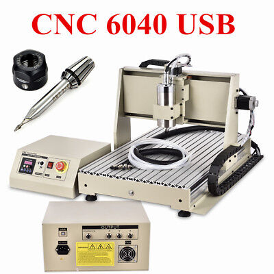 USB 3/4 Axis 0.8-1.5KW CNC 6040 3040 3020 Router Engraver Engraving Mill Machine