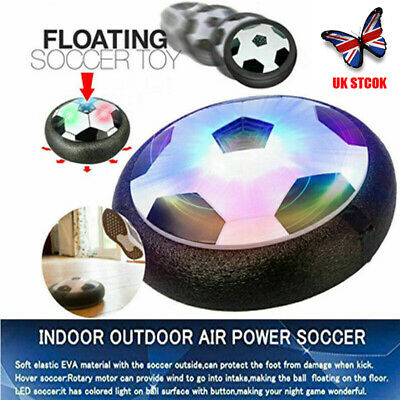 Indoor LED Hover Ball Air Power Floating Soccer Ball Light Up Football Toy UK