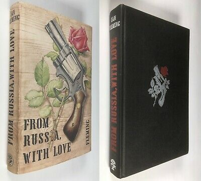 Ian Fleming FROM RUSSIA, WITH LOVE James Bond 1957 Cape 1/2 UK+ Repro DJ