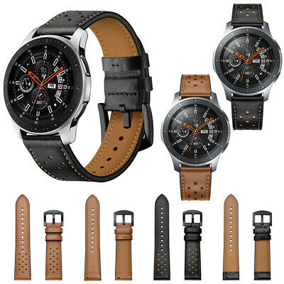 Correa Repuesto de Pulsera de Cuero Genuino Banda Para Samsung Galaxy Watch 46mm