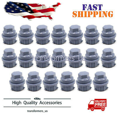 5 Pack Hex 19mm Fits GM Black Wheel Nut Cover M24-2.0