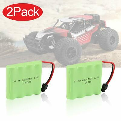 2Pcs 4.8V 700mAh Rechargeable Battery Pack SM Plug For RC Car Truck Vehicle Toys