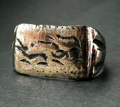 Rare genuine ancient Roman Æ ring with hunting scene - wearable - Hare & Hound