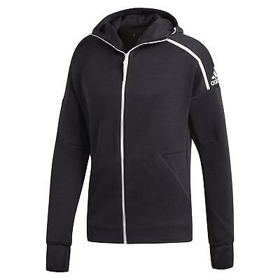 adidas ZNE FAST RELEASE HOODIE FULL ZIP COMFY GYM ACTIVE CLIMALITE BLACK MEN'S