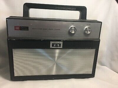 VINTAGE Ross Electronics Corp PORTABLE  8-TRACK PLAYER Not Tested