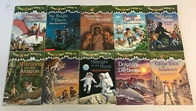 Lot of 10 MAGIC TREE HOUSE Children Books #1-10 by Mary Pope Osborne Series