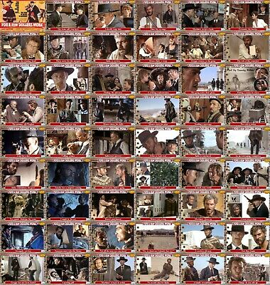For A Few Dollars More movie storyboard trading cards Western Eastwood Van Cleef