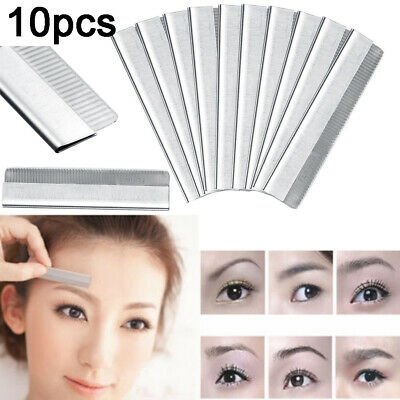 Eyebrow Razor Trimmer Blade Stainless Steel Facial Tool Hair Remover 10pcs