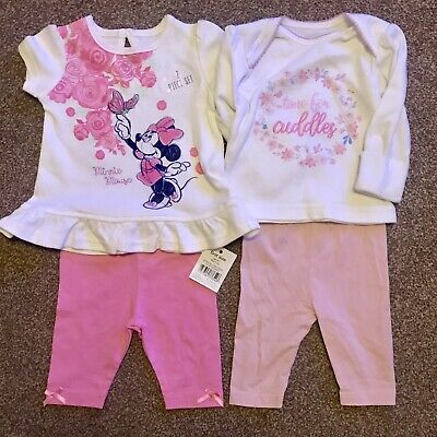 UP to 7.lb   1//7 Minnie Mouse BNWT baby girl summer romper outfits x2