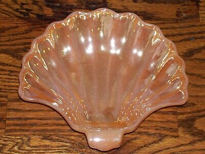 Vintage Fire King Peach Lusture Shell Candy Dish.. Nice!