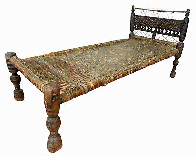 antique bed Swat Valley-Pakistan Charpoi antik Bett Nuristan Afghanistan 19th c.