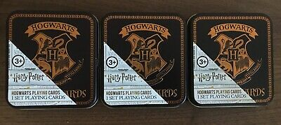 OFFICIAL HARRY POTTER HOGWARTS PLAYING CARDS IN COLLECTORS TIN