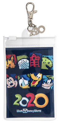 Disney Parks DATED 2020 MICKEY & FRIENDS *Pin Trading Lanyard Clip Pouch