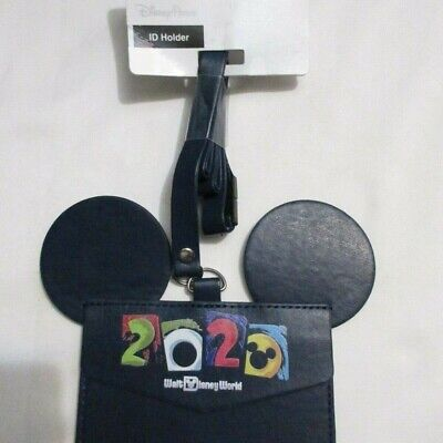 Disney Parks 2020 Mickey & Park Icons Lanyard ID Dated Pass Ticket Holder NEW