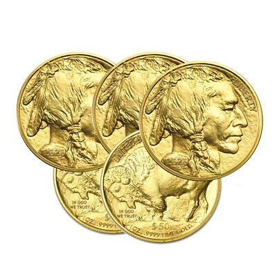 Lot of 5 Gold 2020 American Buffalo $50 Gold 1oz Coins BANK WIRE Payment Only