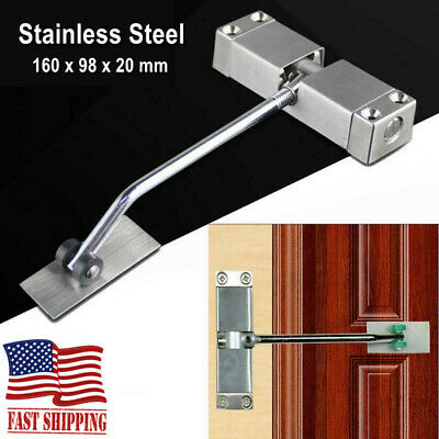 Auto Mounted Spring Door Closer Stainless Steel Adjust Surface Self Closing Door