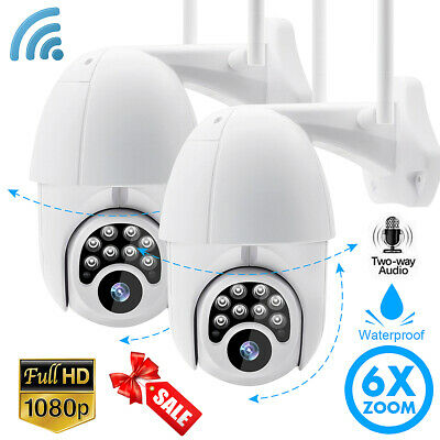 1/2 6xZoom 1080P HD CCTV IP Camera Outdoor WiFi PTZ Security Wireless Security
