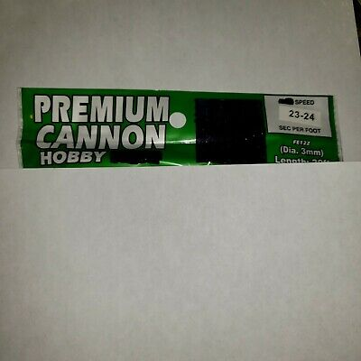20' Green Premium cannon Hobby fuse 3mm 23-24 second label
