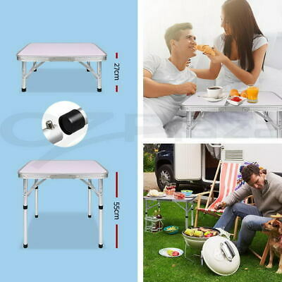 Folding Portable Camping Picnic Kitchen Small Dining Table Bed Tray Heavy Duty